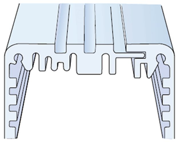 Aluminium profile drawing