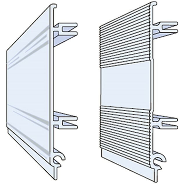 Drawing of two aluminium profiles