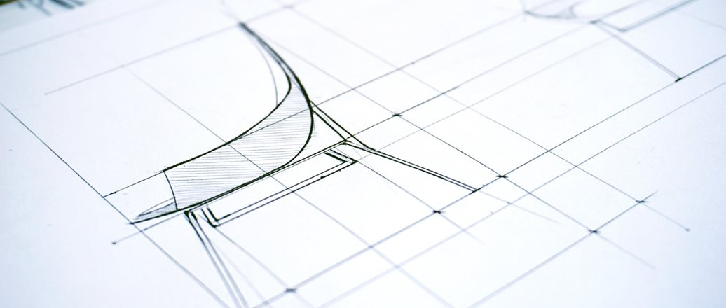 technical drawing of a chair