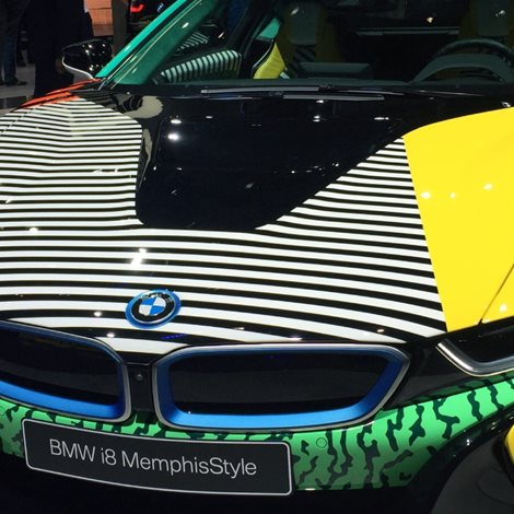 hood of a bmw car