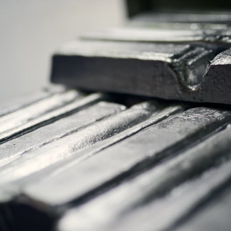 a stack of aluminium bars