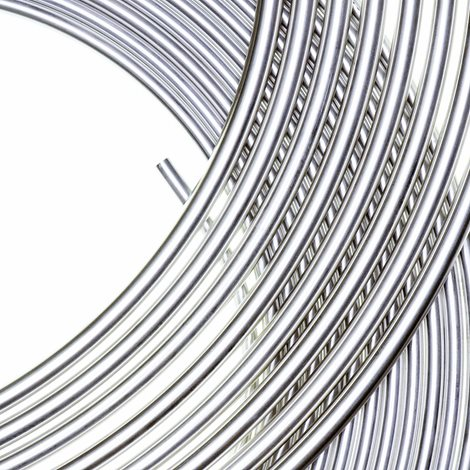 close up of aluminium coils