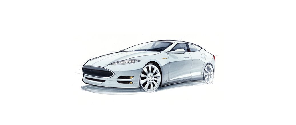 Concept car hand drawing